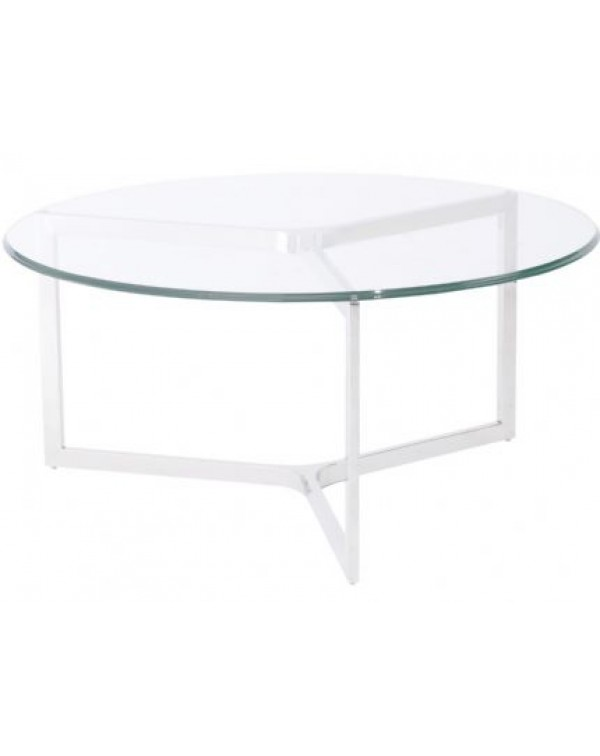 Libra Linton Stainless Steel Glass Coffee Table